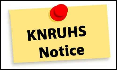 KNRUHS publishes result of MD/MS Ayurveda, MD Homeopathy, MD Unani Exams Nov 2019