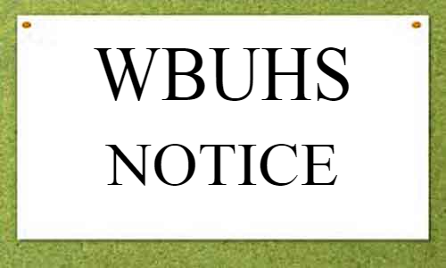 WBUHS issues notice on 2nd round Counseling of Master of Physiotherapy 2019-20