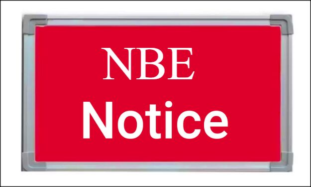 DNB Practical Exams deferred due to COVID 19 Outbreak: NBE issues notice