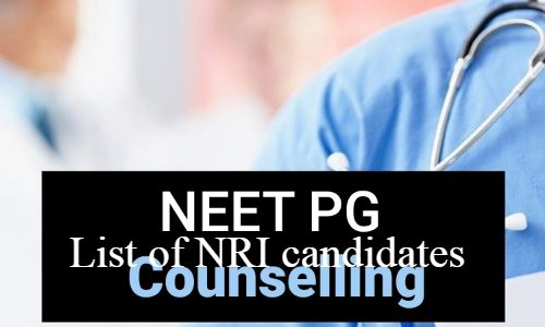 NEET PG Counselling Round 1: MCC releases list of NRI eligible candidates