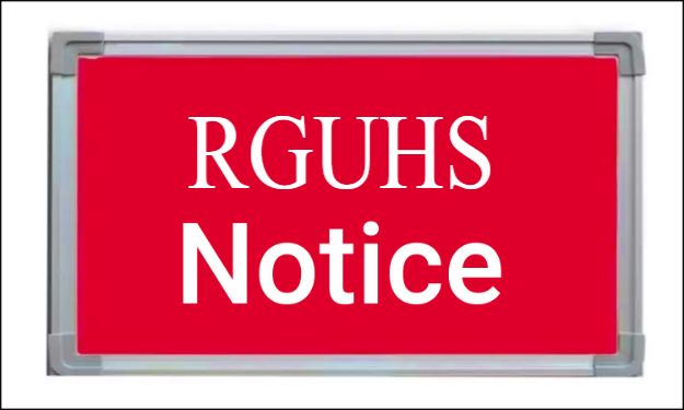 PG Medical, Dental, AYUSH Theory Exams of May 2020 postponed by RGUHS
