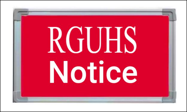 Online classes for UG medical students; RGUHS issues notice